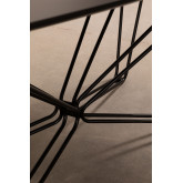 Mesa de Comedor Rectangular en Madera y Acero de 200 cm Ema