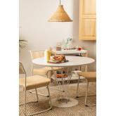 Stuhl aus Metall und Eichenholz Viki, Miniaturansicht 6