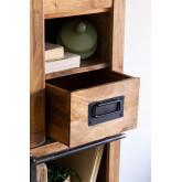 Kleiderschrank mit 2 Schiebetüren aus Uain-Holz, Miniaturansicht 4