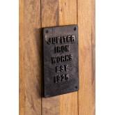 Kleiderschrank mit 2 Schiebetüren aus Uain-Holz, Miniaturansicht 5