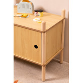 Möbel mit 2 Holzschiebetüren Tulia Kids, Miniaturansicht 3
