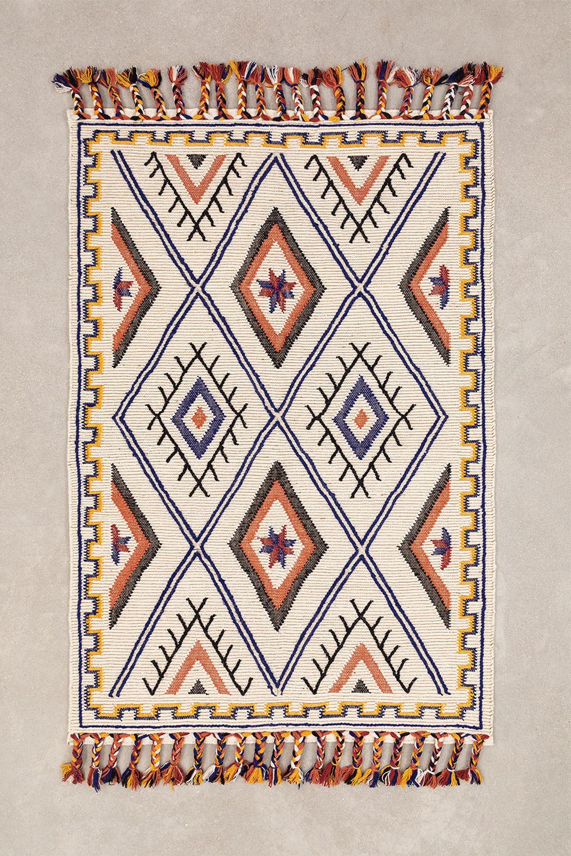 Teppich aus Wolle und Baumwolle (205 x 140 cm) Nango, Galeriebild 1