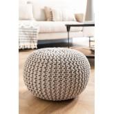 Greicy Knitted Round Puff, Miniaturansicht 1