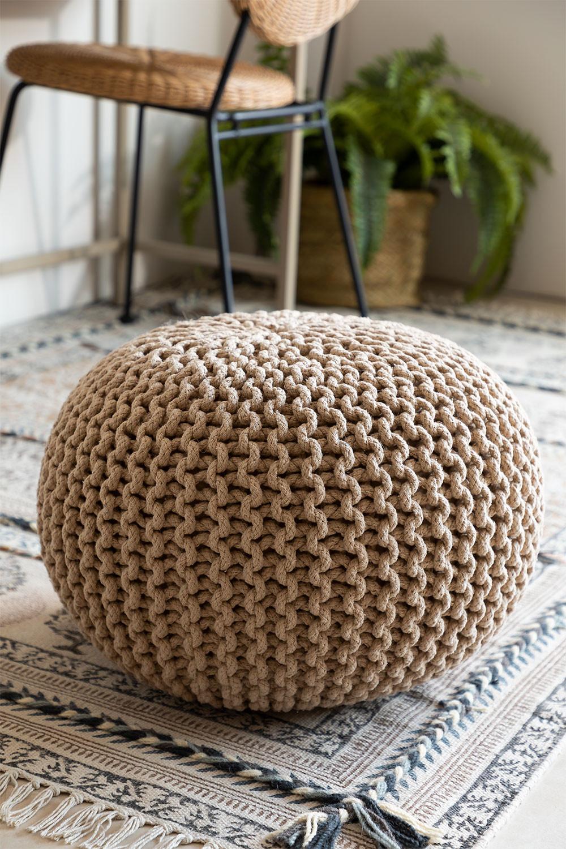 Greicy Knitted Round Puff, Galeriebild 1