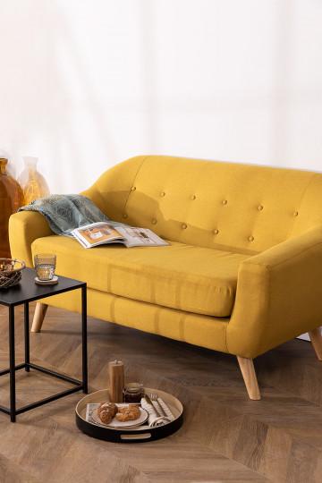 Zweisitzer Sofa in leinen und Stoff Aktic