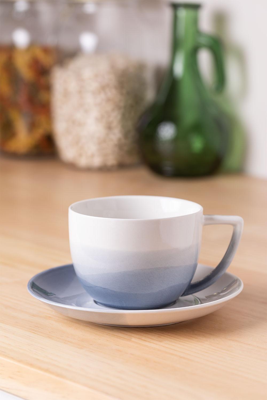 Set mit 4 Teetassen aus porzellan Mar , Galeriebild 1