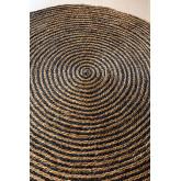 Runder natürlicher Juteteppich (Ø150 cm) Schriftart, Miniaturansicht 3