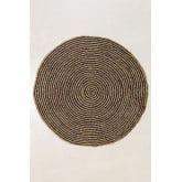 Runder natürlicher Juteteppich (Ø150 cm) Schriftart, Miniaturansicht 2