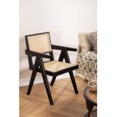 Lali Holzstuhl mit Armlehnen, Miniaturansicht 1