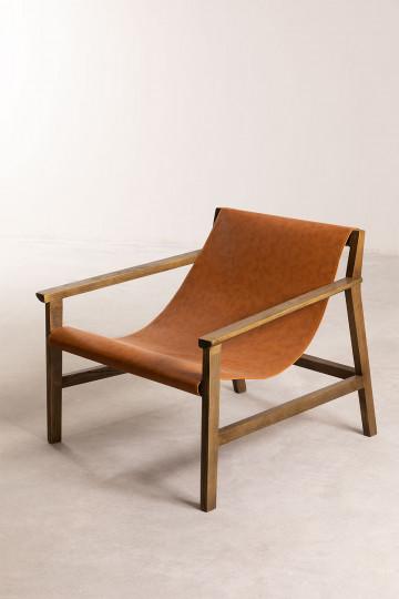 Harris Kunstleder und Holz Sessel