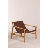 Harris Kunstleder und Holz Sessel, Miniaturansicht 1