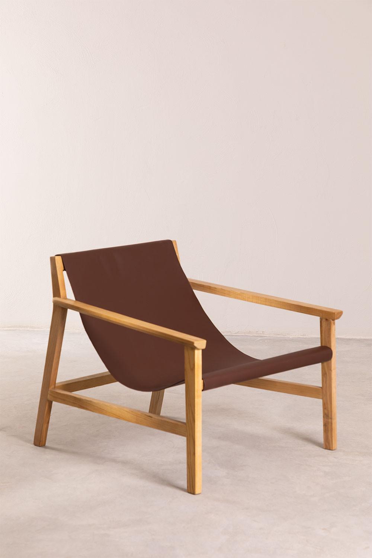 Harris Kunstleder und Holz Sessel, Galeriebild 1