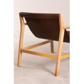 Harris Kunstleder und Holz Sessel, Miniaturansicht 3