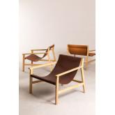 Harris Kunstleder und Holz Sessel, Miniaturansicht 5