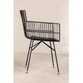 Metallstuhl mit quadratischen Armlehnen, Miniaturansicht 3