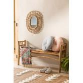 Ovaler Rattan-Wandspiegel (60,5 x 51,5 cm) Zaan, Miniaturansicht 5