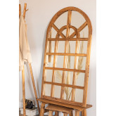 Spiegel aus recyceltem Holz (149 x 87 cm) Vient, Miniaturansicht 1