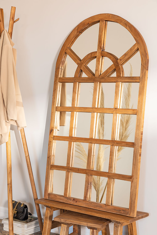 Spiegel aus recyceltem Holz (149 x 87 cm) Vient, Galeriebild 1