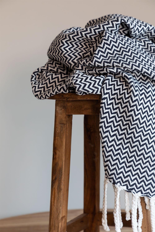 Karierte Decke aus Tajum-Baumwolle, Galeriebild 1