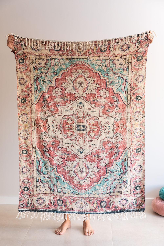 Karierte Decke aus Baumwolle Moraira, Galeriebild 1