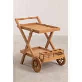 Gartenwagen aus Teakholz Pira, Miniaturansicht 2