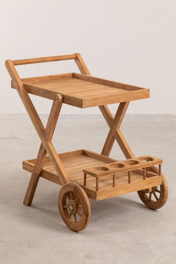 Gartenwagen aus Teakholz Pira