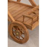 Gartenwagen aus Teakholz Pira, Miniaturansicht 5