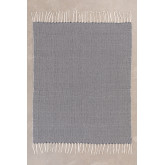 Karierte Decke aus Tajum-Baumwolle, Miniaturansicht 2