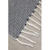 Karierte Decke aus Tajum-Baumwolle, Miniaturansicht 5