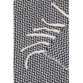 Karierte Decke aus Tajum-Baumwolle, Miniaturansicht 4