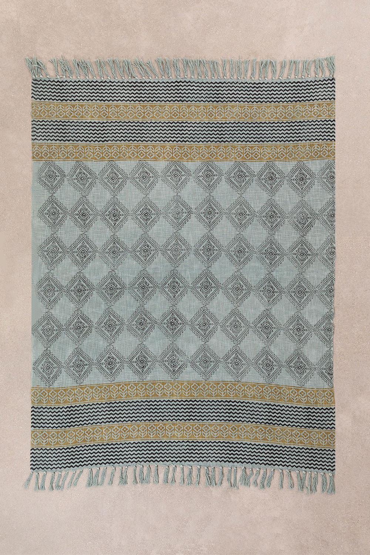 Karierte Decke aus Karelis-Baumwolle, Galeriebild 1