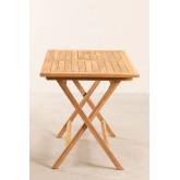 Rechteckiger Gartentisch aus Teakholz (120x70 cm) Pira , Miniaturansicht 4