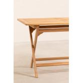 Rechteckiger Gartentisch aus Teakholz (120x70 cm) Pira , Miniaturansicht 5