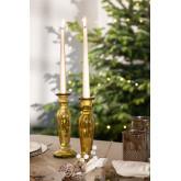 Kerzenhalter aus recyceltem Glas von Eslym, Miniaturansicht 1
