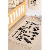 Rechteckiger Baumwollteppich (110x62 cm) Indi Kids, Miniaturansicht 1