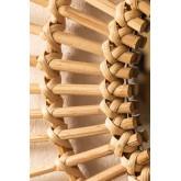 Runder Bambus Wandspiegel (66x66 cm) Etual, Miniaturansicht 4