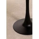 Runder Esstisch im MDF- und Metall-Tuhl-Stil, Miniaturansicht 4