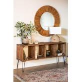 Ceila Hall aus recyceltem Holz, Miniaturansicht 1