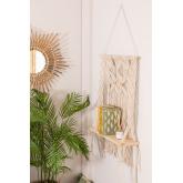 Wandteppich mit Wandregal aus Baumwolle Liv, Miniaturansicht 1