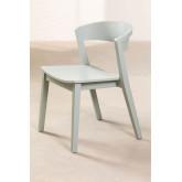 Stapelbarer Stuhl aus Ingwerholz, Miniaturansicht 2