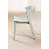 Stapelbarer Stuhl aus Ingwerholz, Miniaturansicht 3