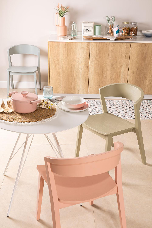 Stapelbarer Stuhl aus Ingwerholz, Galeriebild 1