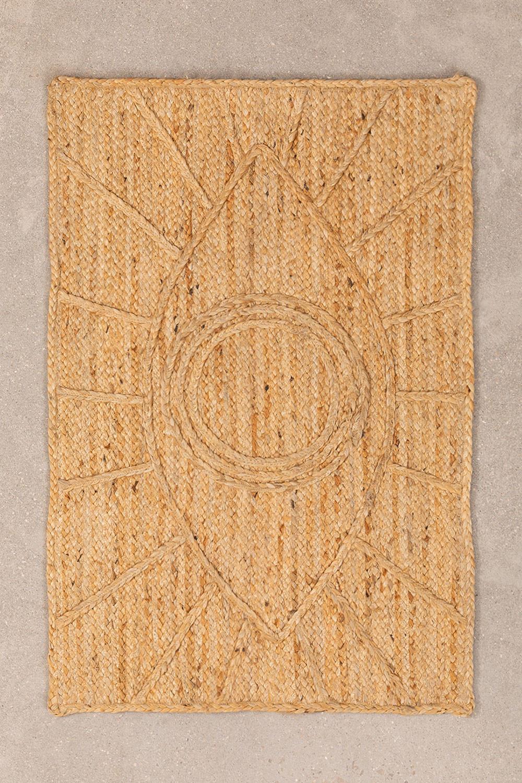 XL Geflochtene Fußmatte aus Jute (90x60 cm) Elaine, Galeriebild 1