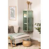 1 Tür Vitrine aus Metall und vertikalem Glas, Miniaturansicht 1