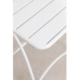 Klappbarer Gartentisch aus Stahl (60 x 60 cm) Janti , Miniaturansicht 4