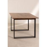 Rechteckiger Esstisch aus Mangoholz (180x90 cm) Betu, Miniaturansicht 3