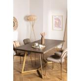 Rechteckiger Esstisch aus Mangoholz (170x90 cm) Gledi, Miniaturansicht 1