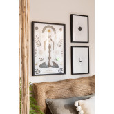Set mit 3 dekorativen Blättern (50x70 und 30x40 cm) Buddha, Miniaturansicht 1