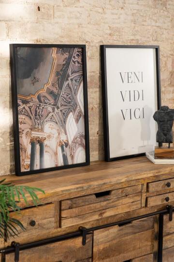 Set mit 2 dekorativen Drucken von Da Vinci