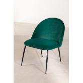 Kana Velvet gepolsterter Sessel mit Fußstütze, Miniaturansicht 2